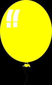Resultado de imagen para globo amarillo