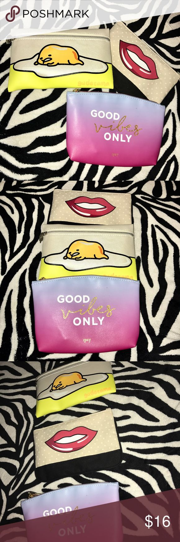 🦋 Brand New 3 piece cosmetic bags 🦋 Brand new beautiful cosmetic bags, set of 3! Great to put all your makeup on in or personal items! ⭐️ made of great smooth material ⭐️ Lovely cosmetic bags! Bags Cosmetic Bags & Cases