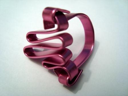 Anillo alambre plano rosa