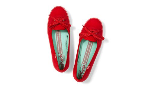 Keds Teacup flats for traveling