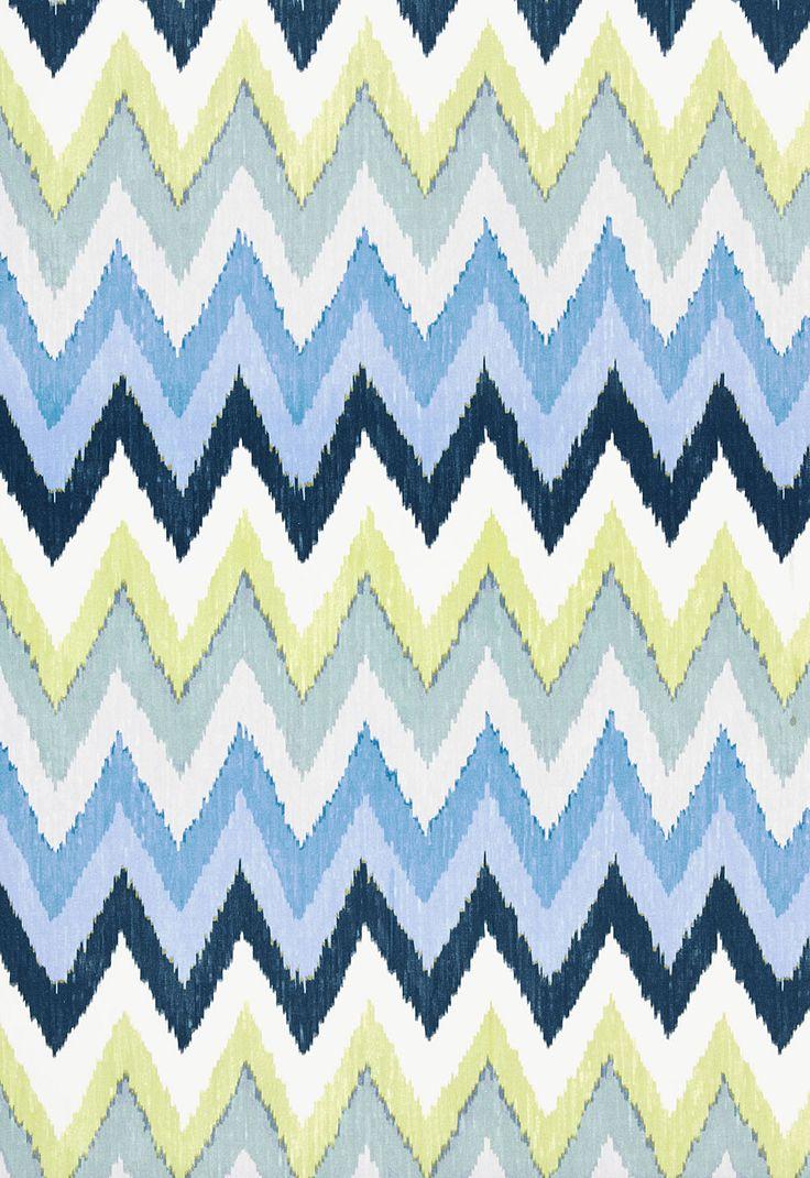 Fabric moreover teal ikat curtain panels on home decor fabric ikat - Fabric Adras Ikat Print In Sky Schumacher