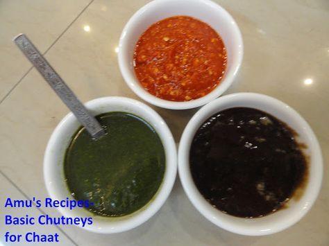 Basic chutneys for chaat