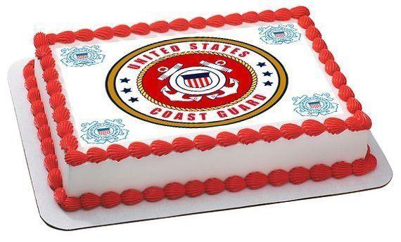 US Coast Guard Military Edible Cake Image Topper