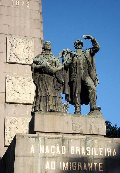 Monumento aos imigrantes italianos em Caxias do Sul.