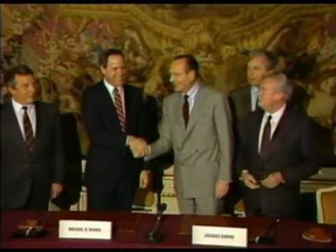 52. EuroDisney agreement signed (1987) Michael Eisner signs an agreement with the French government to build a fourth Disney resort in France. This will be centered around a Disneyland-style park, and plans are also initiated to build a second Disney-MGM Studios theme park on the site.