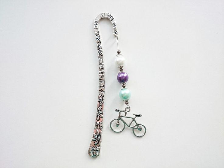 Geschenke für Frauen - Lesezeichen, Fahrrad 12 cm - ein Designerstück von atelier-house-decor bei DaWanda