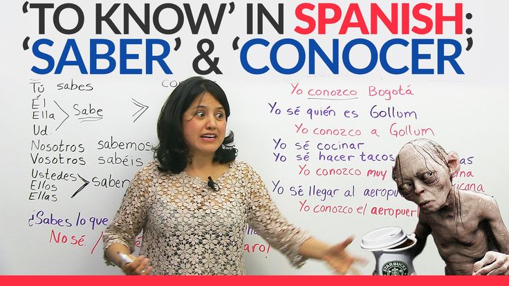 The verb 'to know': 'SABER' and 'CONOCER ' in Spanish