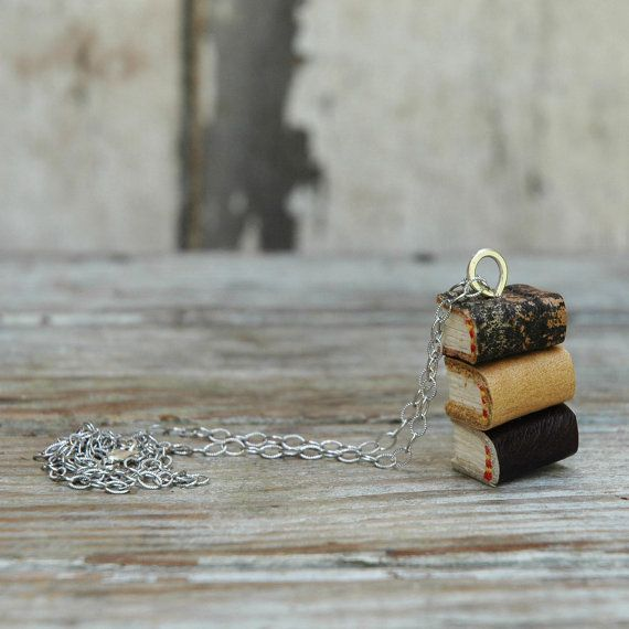 Stacks Book Necklace: Indian Summer Trio by Peg and by PegandAwl