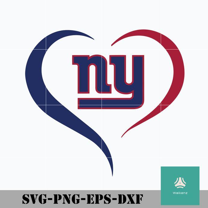 New York Giants Heart Svg New York Giants Svg Giants Svg Nfl Svg Png Dxf Eps Digital File New York Giants New York Giants Logo Svg
