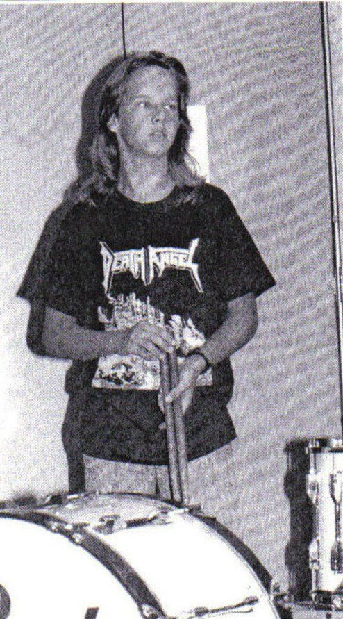 young Joey Jordison, drummer from Slipknot