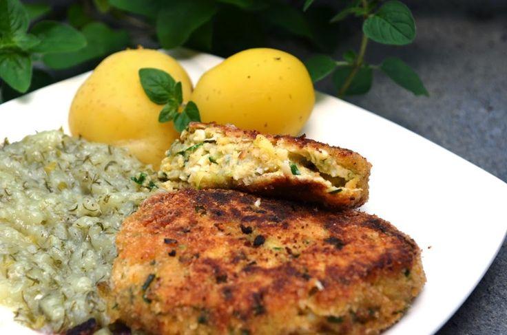 Smak, zapach, kolor, tradycja z nutką nowoczesności...: Kotleciki wegetariańskie z kalafiora cukinii i jaj...