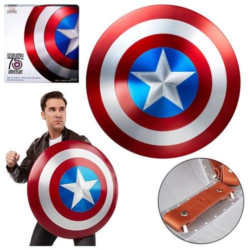 marvel legends captain america 75th anniversary metal shield
