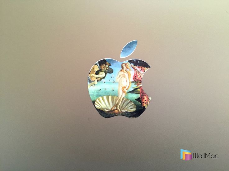 Birth of Venus Glowing Backlit Apple Logo for MacBooks 2 Decals per Order by WallMac on Etsy
