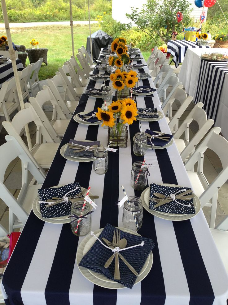 Nautical Coastal Bridal Shower. Navy & White