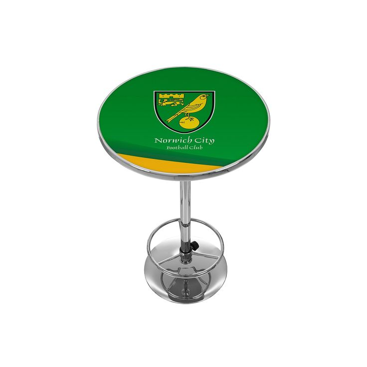 Norwich City FC Chrome Pub Table, Green