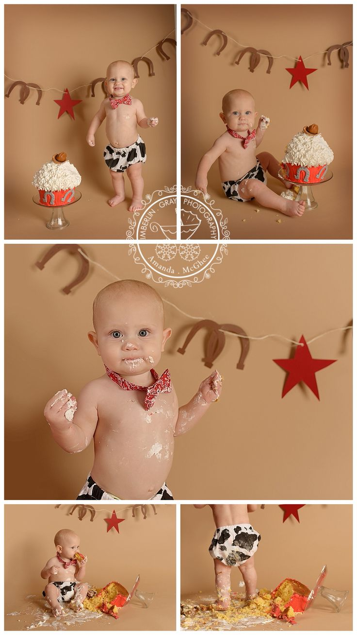 Cowboy Colt | Hampton Roads 1st Birthday Cake Smash Photography | Kimberlin_Gray_PhotographyCustom Newborn Photographer in Virginia Beach