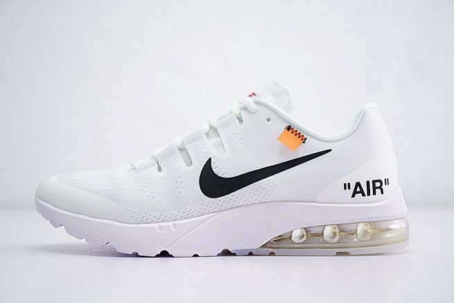 timeless design 40e6e 638fc Buy Off White x Nike Air Max Saunterer White Running Sports Shoes Wholesale