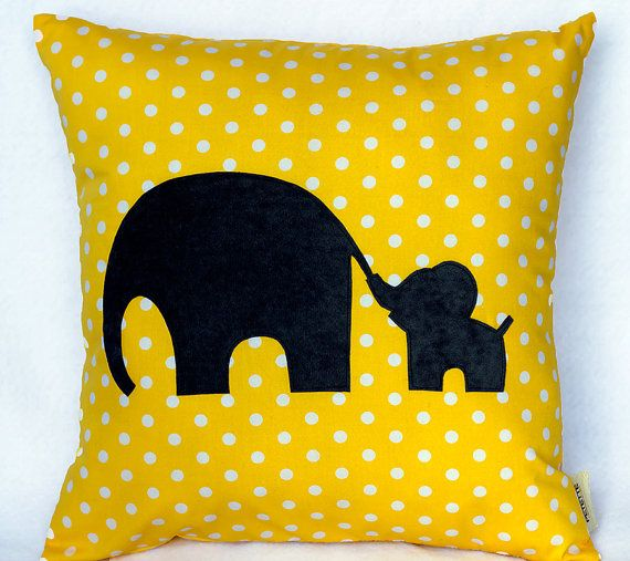 *This adorable pillow is made with hand cut appliques.  *Great for nursery decor, toddler rooms   or any other room.  *Available in any color... just let