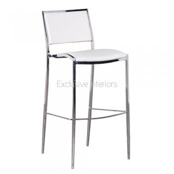 chrome bar stools with back | Bar Stools  sc 1 st  Pinterest & 20 best bar ht bar stools images on Pinterest | Leather stool ... islam-shia.org