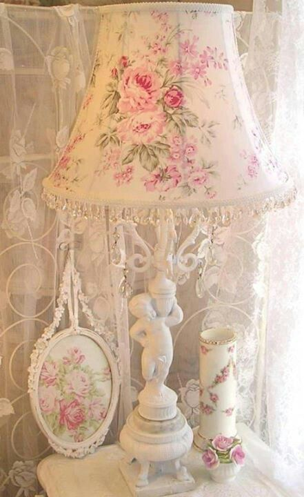 best 25 shabby chic lamps ideas on pinterest flower lampshade flower lamp and shaby chic. Black Bedroom Furniture Sets. Home Design Ideas