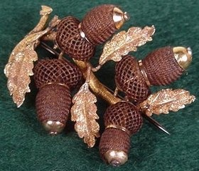 Victorian hairwork pin
