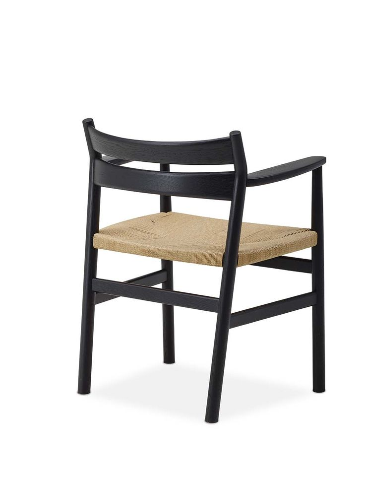 BM2 Chair by dk3. #Børge #Mogensen #dk3 #BM2 #Chair #Blackstained #Oak #Paper #Cordel #Danish #Design #Furniture www.dk3.dk
