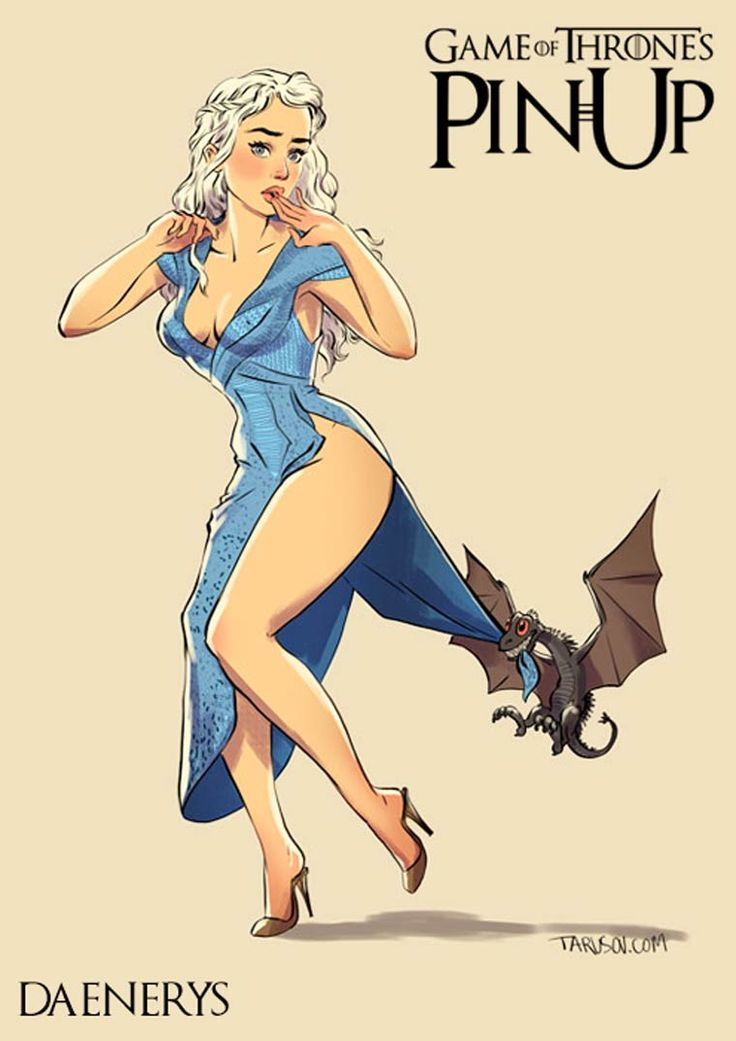 As garotas de Game of Thrones como Pin Ups!Zupi