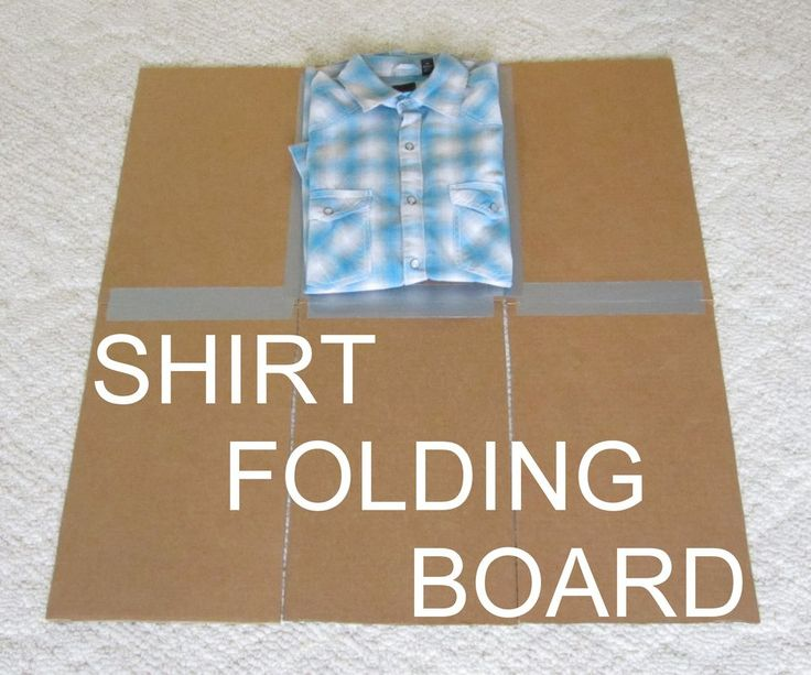 This is such a great idea!  Shirt Folding Board from Cardboard and Duct Tape
