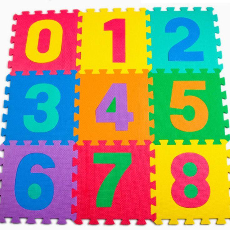 10 Pcs/lot Bayi Bermain Merangkak Tikar Busa Lantai Puzzle Anak-anak Pendidikan Puzzle Jigsaw Tikar Eva Busa Persegi Tikar Mainan Untuk Anak ruang