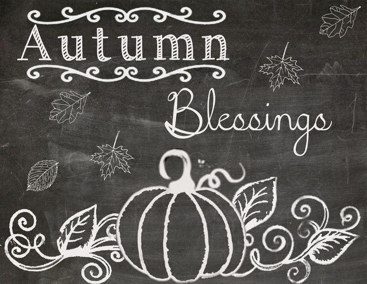 fall chalkboard printables | Happy Fall!! Free Fall Chalkboard Printable