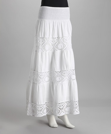 Take a look at this White Peasant Skirt by Dex on #zulily today!