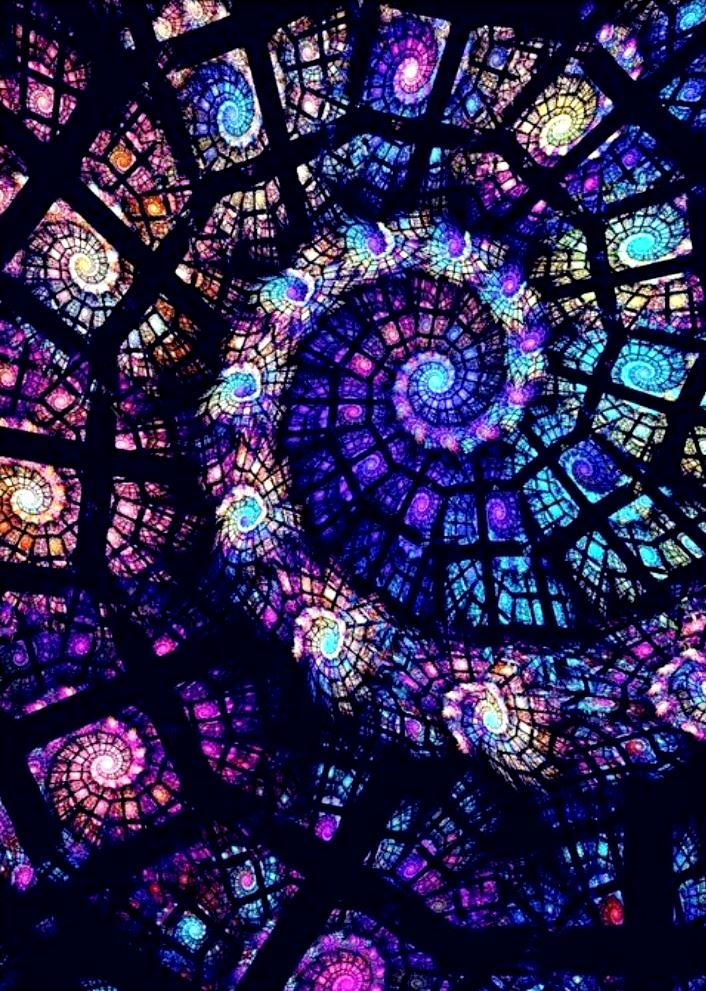 Stained glass spiral fractal Search for more fractals. Amazing