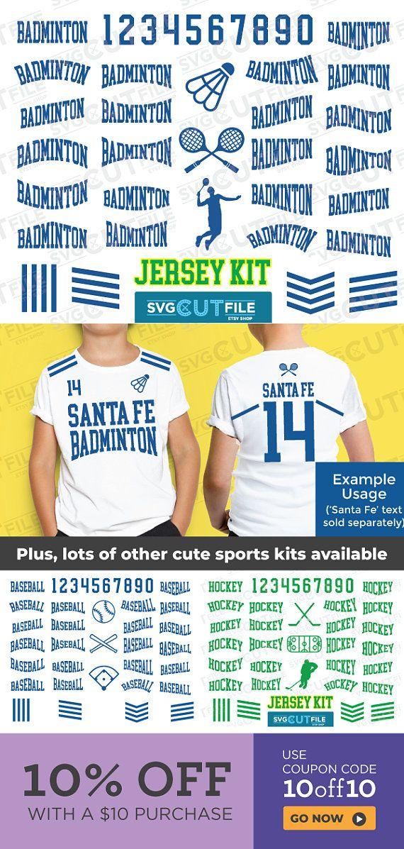 Badminton Jersey Svg Kit Text Options Birdie Racquet Player