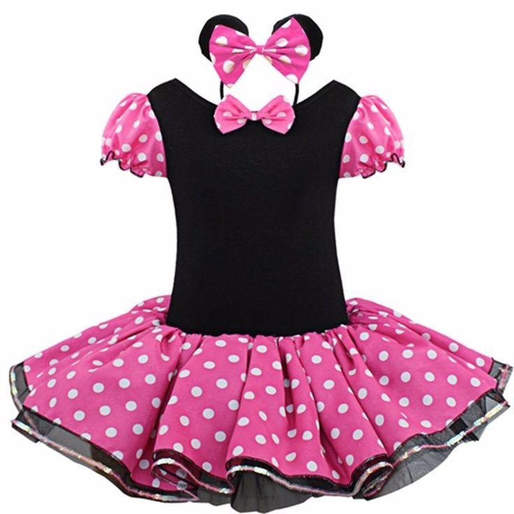 C$ 11.67 Pas cher 2016 Kids Gift Minnie Mouse Party Fancy Costume Cosplay Girls Ballet Tutu Dress+Ear Headband Girls Polka Dot Dress Clothes Bow, Acheter  Robes de qualité directement des fournisseurs de Chine:buste/2taillelongueur de robesuggéré corps225.5 cm24 cm45 cm60-70 cm326.5 cm25 cm47 cm70-80 cm427.5 cm26 cm49 cm80