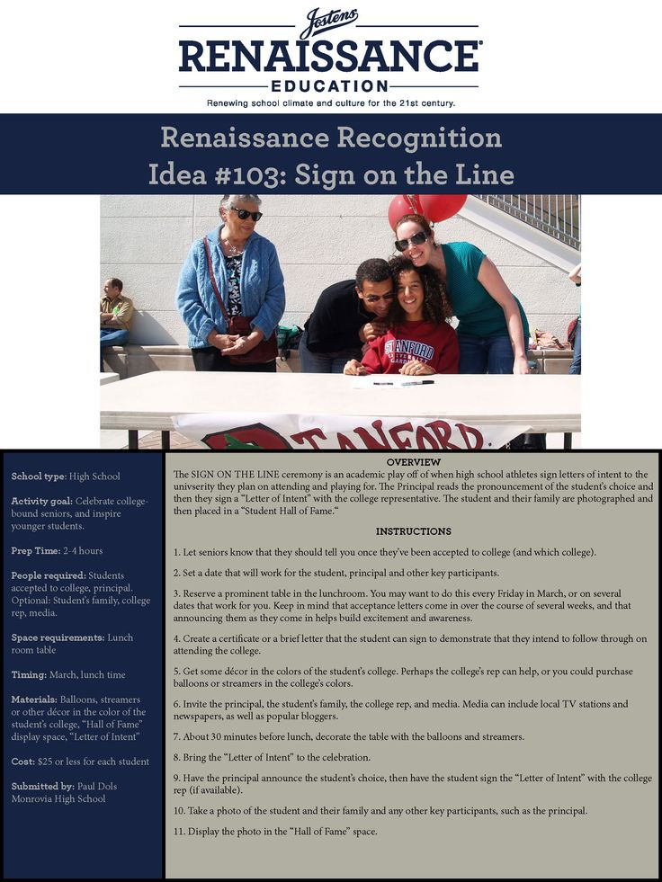 SIGN ON THE LINE | Jostens Renaissance Education