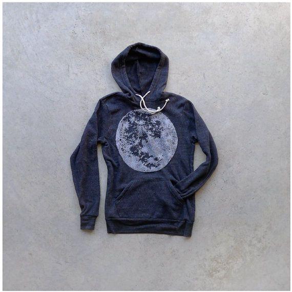 Mens sweatshirt  winter fashion  SXL  full moon by blackbirdtees, $47.00