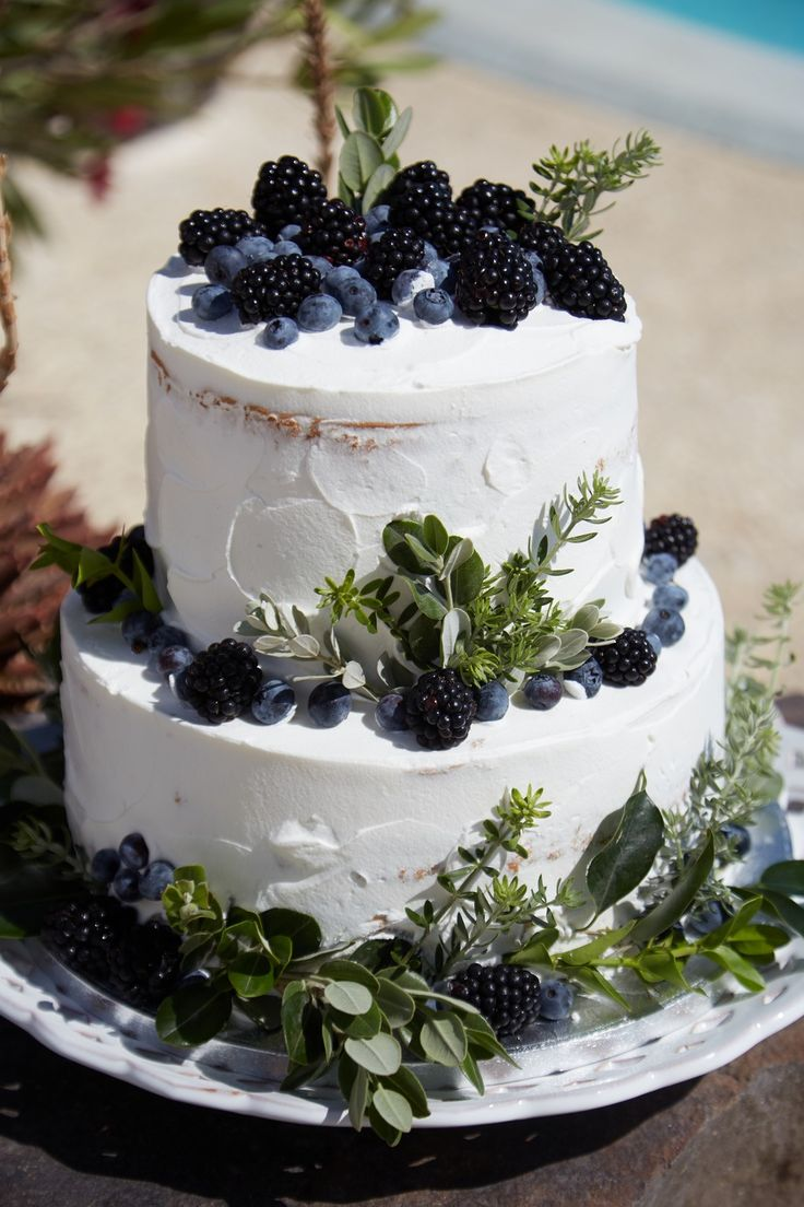 Artist, Cake, Delicious, Berries, Greenery, 3 Tiers, Santorini Weddings