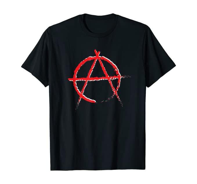 Anarchy Symbol T Shirt Shirts Rock Style Men Mens Tshirts