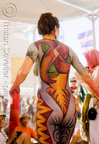 burning man, body paint, girl - Click photo to visit site and view larger image