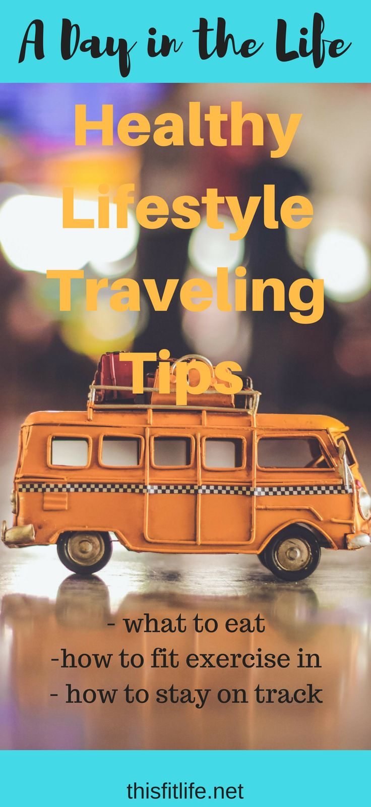 Healthy lifestyle tips while traveling!  Even if you are on the road or on vacation, you can still stick to a healthy lifestyle that includes clean eating and exercise AND you can still enjoy yourself!  Check this out and I'll show you how!