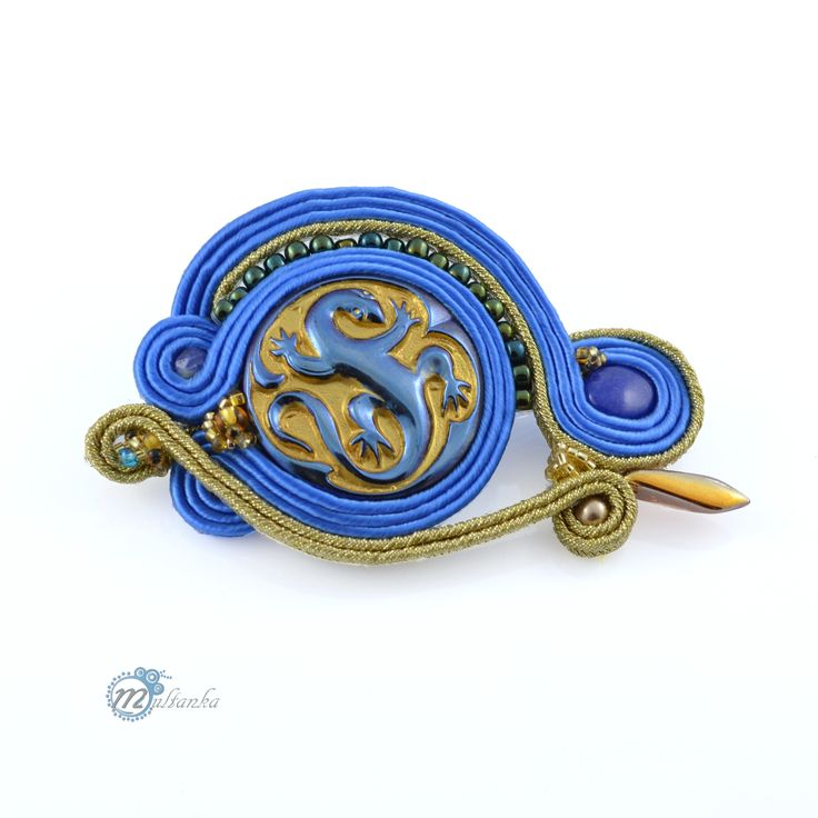 Sutaszowe broszki - Multanka - art soutache jewellery