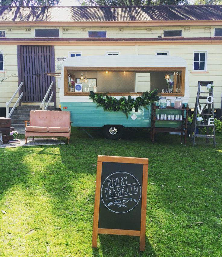 Bobby Franklin Vintage Caravan Sydney #vintagecaravan #caravanbar #vintagecaravanbar #mobilebar #baravan