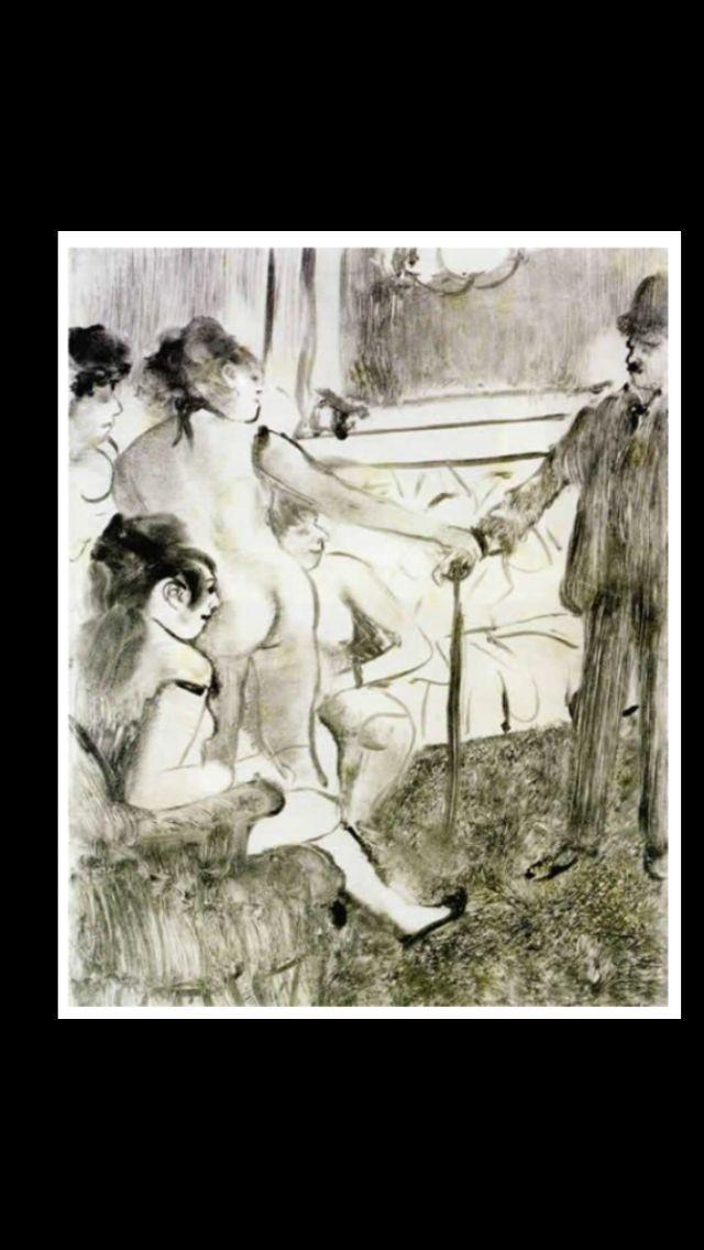 "Edgar Degas - "" Le client sérieux  "", 1877 - Monotype on wove paper - 135,3 x 120,7 cm - National Gallery of Canada"