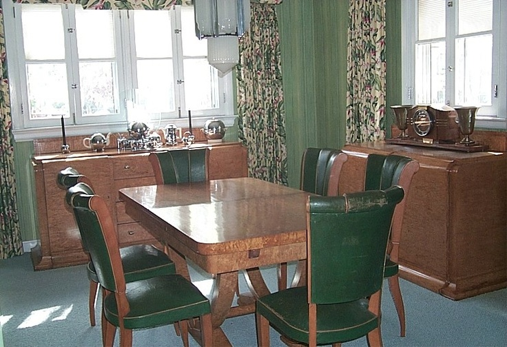 Art deco dining room set