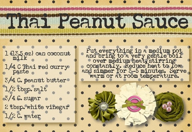 thai peanut chicken- made this last night it was THEE best! We loved it!