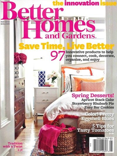 Better Homes And Gardens Magazine, May 2013: The Innovation Issue  (searchable Index Of