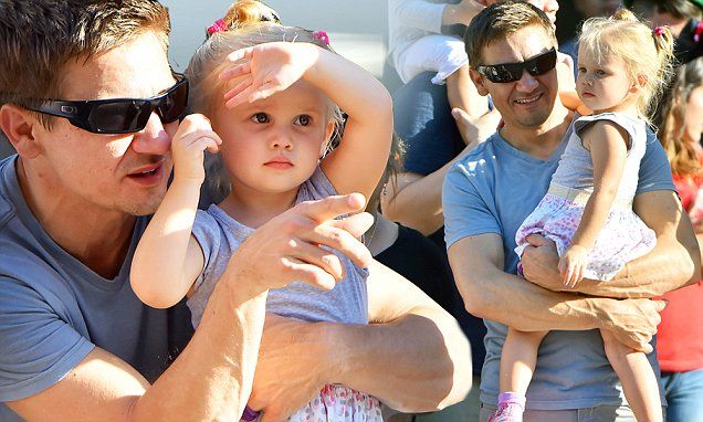 Jeremy Renner takes daughter Ava to Disneyland