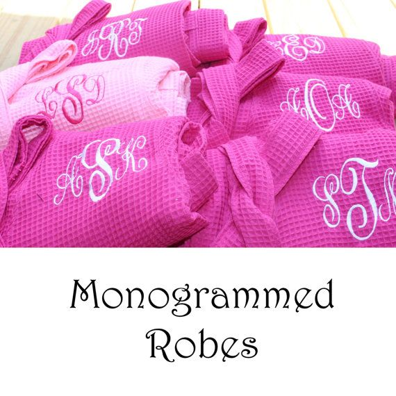 Personalized Bridesmaid Robe Set of 7 by PersonalizedGiftsbyJ
