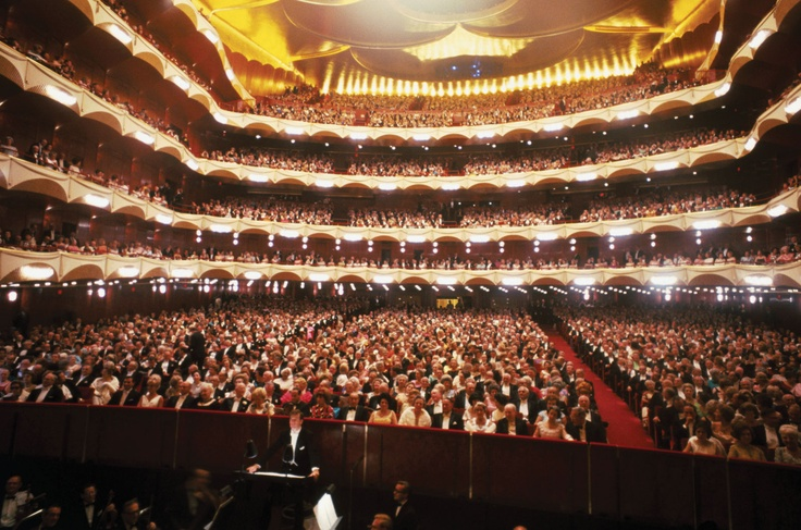 Inside Metropolitan Opera House, Lincoln Center, NYC