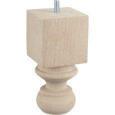Pied de meuble autres fixe hêtre brut blanc / beige / naturels, 15 cm